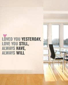 I've loved this wall decal for so long.