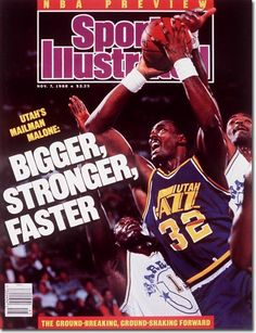 buy Karl Malone of The Jazz Sports Illustrated cover reprints Karl Malone, Sports Magazine Covers, Si Cover, Sports Illustrated Covers, Kings Man, Basketball Legends, Utah Jazz, Mike Tyson