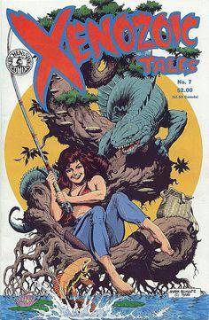 Comic Book Critic - Google+ - Xenozoic Tales #7 (Oct '88) cover by Mark Schultz.