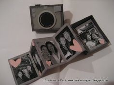 Tutorial - matchbook camera box with fold-out mini