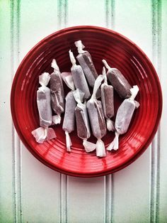 tootsie rolls (They say they're paleo but use powdered sugar...with substitution ideas for trying stevia)