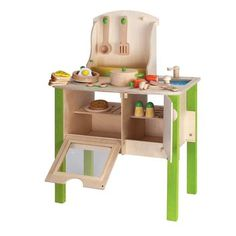 Children's Play Kitchen. Discover this high-quality country kitchen playset that has everything your little chef needs to start cooking in style.
