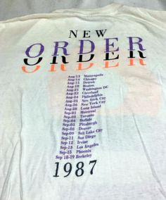 New Order 1987 Vintage Concert T-shirt #NewOrder