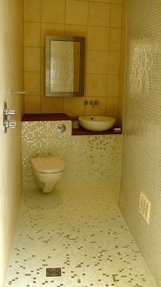 Wetrooms—a luxurious and clever idea for a small bathroom. I lock the whole bathroom while taking a shower, so why not use the whole bathroom? Why spend so much time and money trying to make shower enclosures look good? (They're hideous.) Do away with them and have clean, beautifully-tiled, waterproof zen space in your bath for the same budget as sprucing up a shower and bathroom. #luxuryzenlivingrooms #luxuryzenbathroom #luxuryvanitory