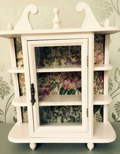 Lovely Vintage Wall Curio Cabinet Display Case, CURVED GLASS ~Mirror Back | Wall  Curio Cabinet, Vintage Walls And Display Case