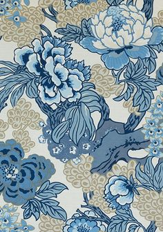 HONSHU, Blue and Beige, F975487, Collection Dynasty from Thibaut