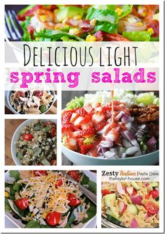 Spring is right around the corner! We're all starting to lean towards eating more salads, fruit and veggies instead of the heavy soups, casseroles and other comfort foods. Soon all the fresh vegetables will be here and we'll be enjoying the lighter foods. I know, I'm ready and could stand to eat a little healthier …
