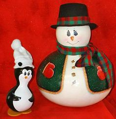 penquin gourd | Penguin and Snowman Gourds