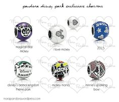 Pandora Disney Parks Collection 2014 - Charms with Colour