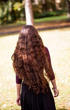 wavy autumn hair