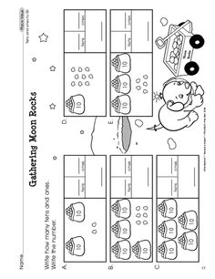 Math Worksheet: place value (counting tens and ones to 50)