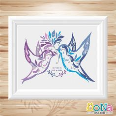 Hey, I found this really awesome Etsy listing at https://www.etsy.com/uk/listing/240961568/flower-birds-love-birds-series-cross