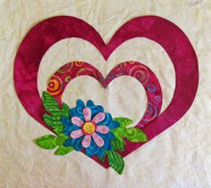 Peck's Pieces: Finally the last 2 blocks for Love in Bloom! Paper Piecing Patterns, Applique Patterns, Applique Quilts, Quilt Patterns, Applique Ideas, Heart Quilt Pattern, Animal Quilts, Quilt Blocks, Flower Designs
