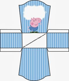 George Pig: Free Printable Party Boxes.