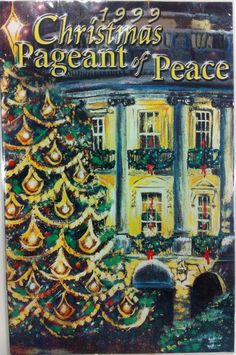 Each year since the first Christmas Proclamation by President Calvin Coolidge in 1923, the White House has been bedecked with holiday cheer in the form of boughs, berries, trees, treats and wonderful Christmas cheer.   The public is invited to view the decorations and a program is issued each year to identify the many artists, artisans, and public support for each public room of the White House.  This program is from 1999.