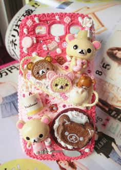Kawaii Custom Deco Rilakkuma cream Samsung galaxy S3 case