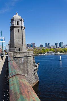 Longfellow Bridge over Charles River, Boston, MA