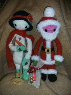 lalylala x-mas mods by Christine H./ based on a lalylala crochet pattern