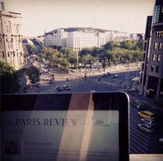 Enjoying some of the legendary Paris Review interviews with downtown Budapest in the background. #ReadEverywhere