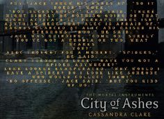 City of ashes qoute City Of Ashes, Qoute, Cassandra Clare, The Mortal Instruments, Good Books, My Love, Great Books, The Infernal Devices