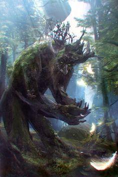 lord of the rings forest fantasy jrr tolkien ent fantasy art Tolkein walking tree intelligent tree Forest Creatures, Magical Creatures, Fantasy Artwork, Nature Spirits, Fantasy Monster, Wow Art, Fantasy Landscape, Medieval Fantasy, Legolas
