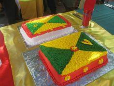 The flag of Grenada as I have never seen it before. Caribbean Flags, Caribbean Sea, Grenada Flag, Flag Cake, West Indian, Caribbean Recipes, Small Island, Flag Design, Beautiful Islands