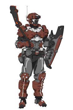 ArtStation - shield solider, buffy wang
