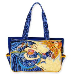 Amazon.co.jp: [ローレルバーチ] LAUREL BURCH キャンバス トートバッグ ミディアムトート Sea Dreams Medium Tote: シューズ&バッグ:通販