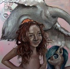 "Saatchi Art is pleased to offer the painting, ""Princess Ya laughing to her ponies,"" by andrea bernath. Original Painting: Acrylic on Canvas. Size is 0 H x 0 W x 0 in. Original Paintings, Art Painting, Canvas, Painting, Art, Magic Realism, Saatchi Art, Acrylic Painting Canvas"