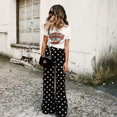 Tendência Poá, tendência bolinha, moda bolinha branca, moda bolinha preta, vestido de bolinha preto, vestido de bolinha branca, vestido de bolinha, vestido de poá, saia de poá, saia de poá preto e branco, saia de poá branco e preta, calça de poá, polka dots