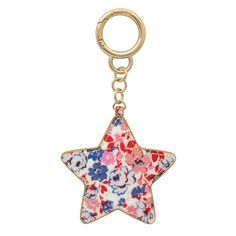 Painted Glitter Star Disk Keycharm