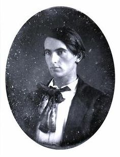 Lew Wallace, c. 1853, in his mid-twenties. Union general, governor of New Mexico territory, diplomat to the Ottoman Empire, and author of Ben-Hur