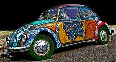 Hippie VW bug.
