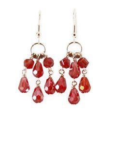Red chandelier earrings garnet red crystal earrings antique gold red chandelier earrings garnet red crystal earrings antique gold earrings scarlet red drop earrings scarlet antique gold and earrings aloadofball Choice Image