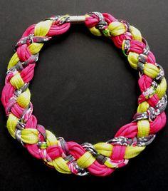 Stoffketten - Sehnsüchtig Sommer - bunte Jerseykette - ein Designerstück von Patikreli bei DaWanda