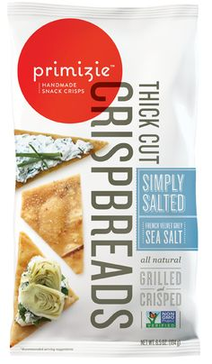 Primizie Simply Salted French Velvet Sea Salt snack cracker is a buttery, delicate, light crisp that complements any cheese or dip.