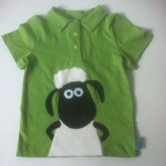 """Poloshirt mit Shaun (SM: Poloshirt """"Kim"""" von heidimade-Heidi näht)"""