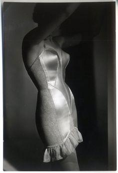 Corselette...archive photo taken 1954 Paris. Les Arts Décoratifs, photo library...