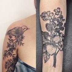 #tattoofriday - Elissa Rocabado, Brasil. #botanicaltattoos