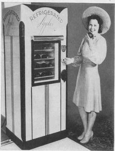 Fruit vending machine: refrigerated apples