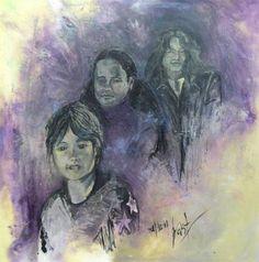 geschilderd op oudjaarsavond 31 december 2001  acryl op houtpaneel  afm. 97 x 97 cm