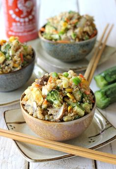 "Quinoa Veggie ""Fried Rice""! GREAT recipe from ""Damn Delicious"" - this girl does it right!!"