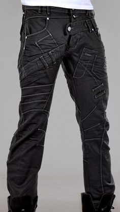 Akita pants by Cryoflesh #cyberpunk #industrial #goth | Raddest Men's Fashion Looks On The Internet: http://www.raddestlooks.org