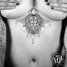 Ornamental Lion Tattoo by Mrs Fox