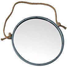 Best Rope Mirrors and Nautical Wall Decor! Discover the top-rated nautical themed rope wall decorations and rope themed mirrors. Round Mirror With Rope, Rope Mirror, Rope Frame, Round Wall Mirror, Round Mirrors, Nautical Bathroom Mirrors, Nautical Mirror, Nautical Wall Decor, Beach Wall Decor