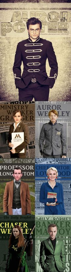 Auror Potter: The students of Hogwarts professions after graduating | Harry Potter | | Harry Potter Funny | | Harry Potter Humor | | Harry Potter Memes | | Harry Potter Characters |
