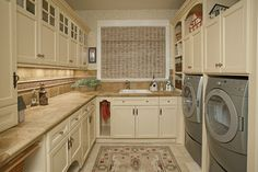 Laundry Room & Pantry - traditional - laundry room - seattle - by Provanti Designs, Inc