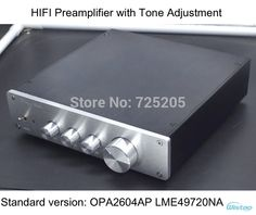 HIFI Preamplifier with Tone Adjustment Bass Tremble Middle OPA2604 LME49720 Whole Aluminum Casing Class A Power Stereo Audio  US $79.00 / piece
