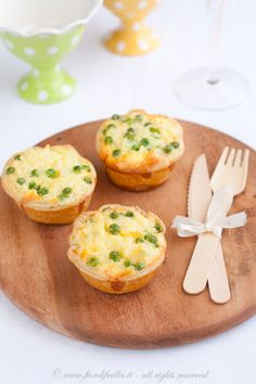 Budini salati di riso ai piselli e pecorino       #recipe #juliesoissons