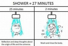 Repin if you do your best thinking in the shower...lol
